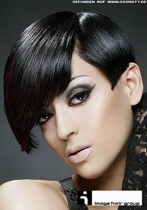 Черный цвет волос. Фото.