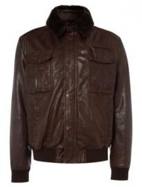 Кожаные куртки бомбер.