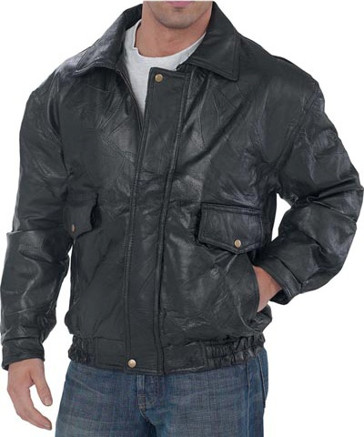Мужские кожаные куртки бомбер.