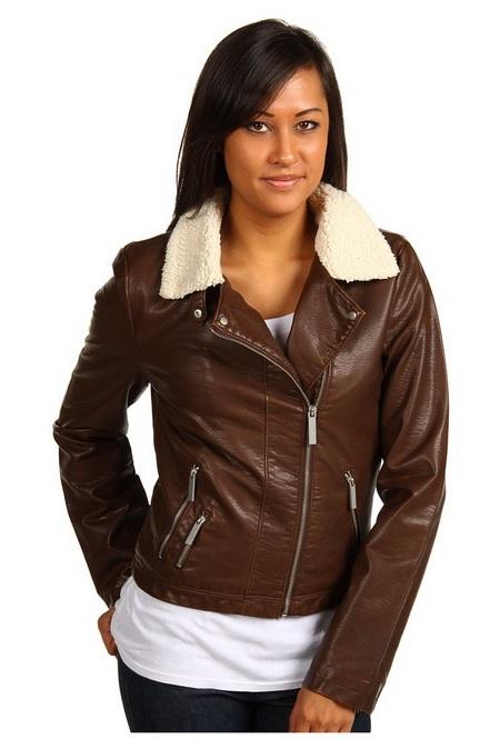 Женские модные  кожаные куртки бомбер.