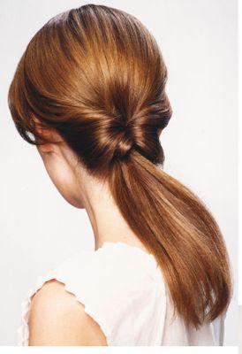 Длинные волосы схвостом. Фото.