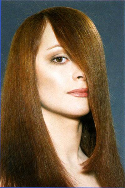 Ассиметричная прически на длинные волосы.Фото.