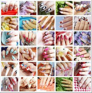 Варианты окраски ногтей