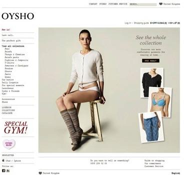 Oysho  официальный сайт.