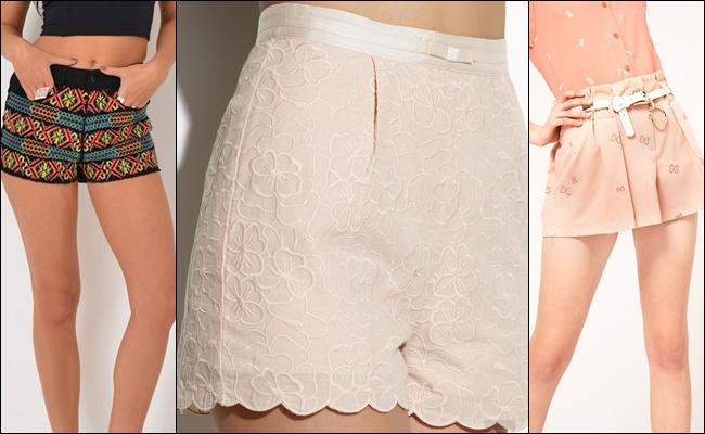 Шорты с вышивкой на лето 2013