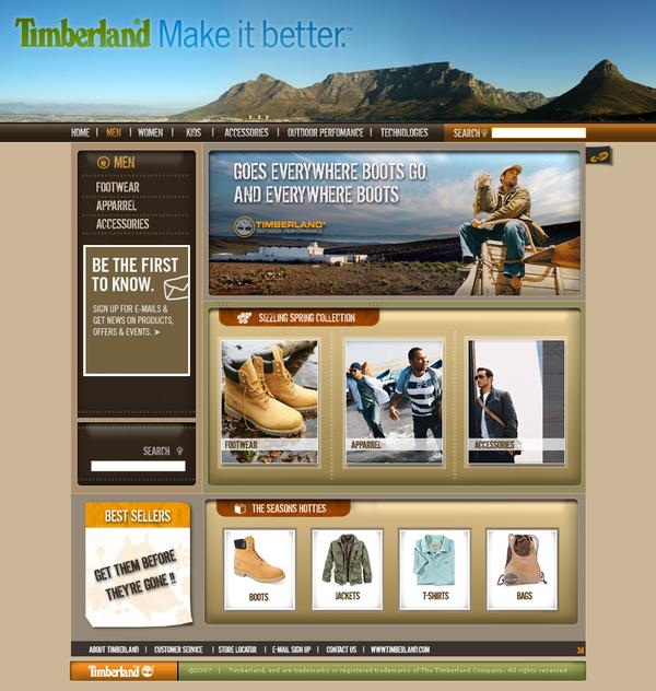 Официальный сайт Timberland.