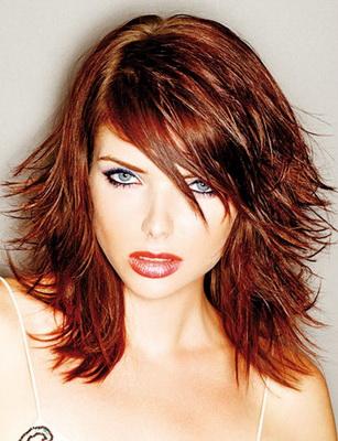 Фото.Каскад для тонких волос