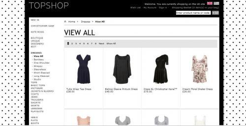 Официальный сайт TopShop