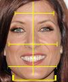 Прическа для  лица треугольной формы.