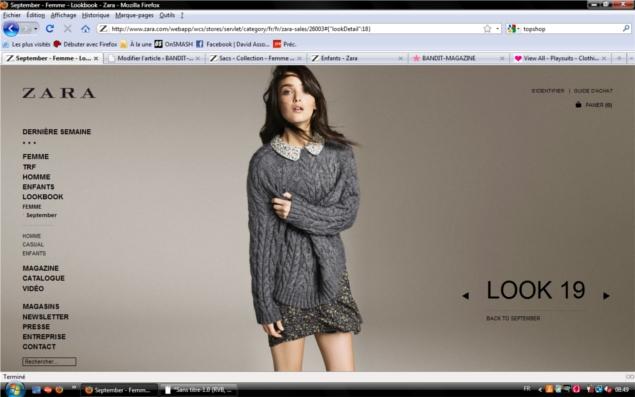 Интернет магазин Zara.